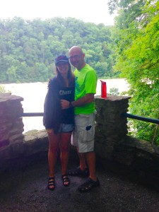 At Rock Island on the main overlook below the dam