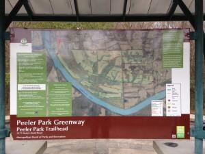Peeler Park Trail Head Signage